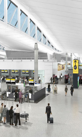 MICAM HORIZON high performance security wall-lining system chosen for New Heathrow Terminal 2A